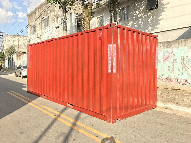 Container marítimo 20 pes preço