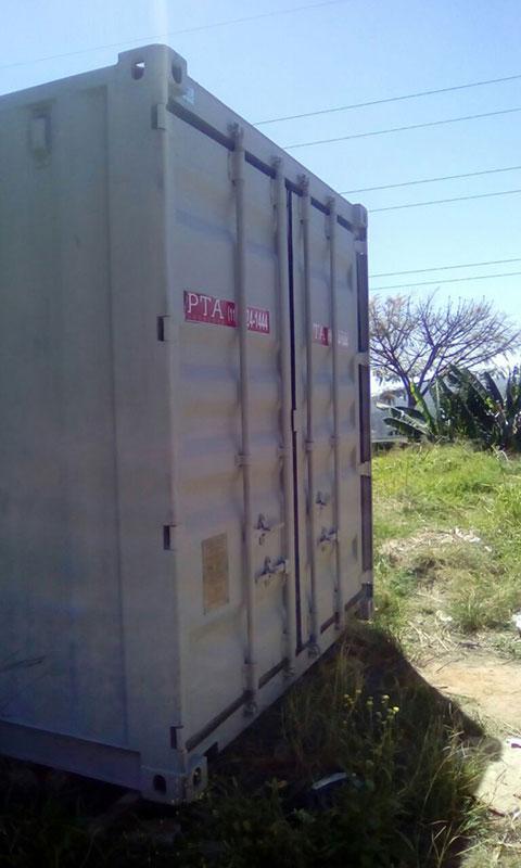 Container marítimo usado a venda